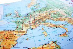 Europe map Stock Photos