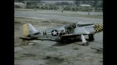WW2 - P51 - Ground Stock Footage