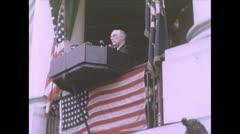 WW2 - Franklin D Rosevelt Speech Stock Footage