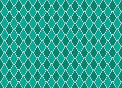 emerald arrows interlaced - stock illustration