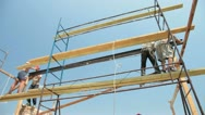 Roofing work Stock Footage