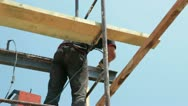 Roofing works Stock Footage