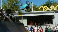 bmx backflip - stock footage
