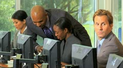IT Team Giving Customer Technical Support - stock footage