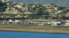 Wellington airport 01 Stock Footage