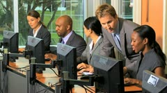 Team Multi Ethnic Share Traders Stock Footage