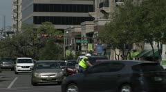 TIME-LAPSE TRAFFIC MONROE STREET, TALLAHASSEE Stock Footage