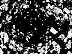 Accident: pieces of broken glass over black Stock Illustration