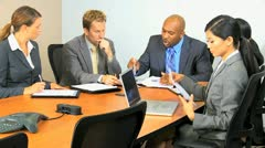 Multi Ethnic Business Meeting Discussing Failure Stock Footage