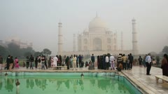 Taj Mahal - famous mausoleum in Agra India - stock footage