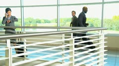 Multi Ethnic Business Airport Travellers Stock Footage