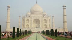Taj Mahal - famous mausoleum in Agra India Stock Footage