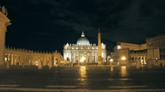 St Peters Cathedral, Rome - timelapse Stock Footage