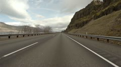 Driving POV - Columbia River Gorge Desert Highway 84 Eastbound 3 Stock Footage