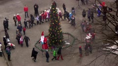 New year and Christmas celebration in Russia (Kaliningrad) Stock Footage