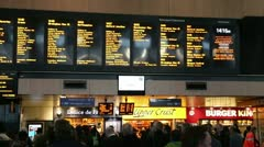 Commuters at London Euston railway station Stock Footage
