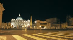 Saint Peter Square, Rome - timelapse Stock Footage