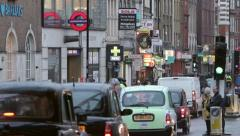 London traffic with commuters returning home Stock Footage
