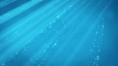 underwater light beams - stock footage