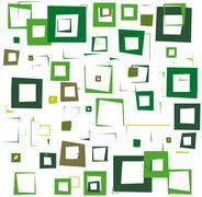 green squares - stock illustration