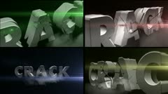 3D Text\Crack - stock after effects