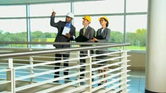 Architect with Multi Ethnic Business Clients Stock Footage