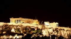 Time lapse Acropolis Stock Footage