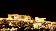 Stock Video Footage of Time lapse Acropolis