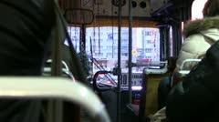 Kaliningrad inside a bus Stock Footage