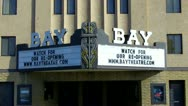 Stock Video Footage of Old Style Neighborhood Movie Theater Marquee- Seal Beach CA