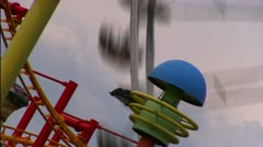 """Blumenrad"" - Attraction in viennese Prater Stock Footage"
