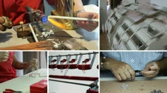 Pearls factory in Manacor Stock Footage