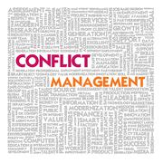 Business word cloud for business and finance concept, conflict management Stock Illustration