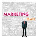 Business word cloud for business and finance concept, marketing plan Stock Illustration