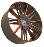 Front side view of alloy wheel isolated Stock Illustration