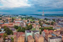 Riga, Latvia, cityscape from Academy of Sciences - stock photo