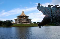 borneo kuching parliament - stock photo