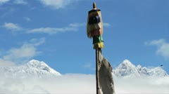 Everest and Lhotse from Deboche Stock Footage
