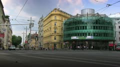 Vienna Traffic at Rennweg - stock footage