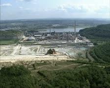 Open pit mine at Mount Saint Peter near Maastricht Stock Footage