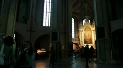 Altar of Turku Cathedral - stock footage