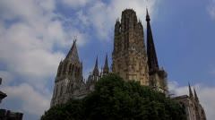 Rouen Cathedral Stock Footage