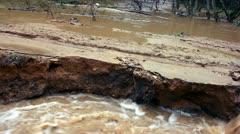 Destruction process. Flooding road, 1080p. Stock Footage