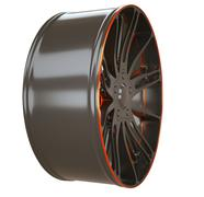 Side view of alloy wheel or disc of sportcar isolated Stock Illustration