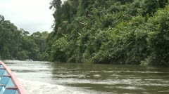 Suriname, boattrip on Grand Rio river, Awarradam Stock Footage