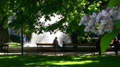Romantic park, Volksgarten Vienna, Austria 2 (dutch angle) Stock Footage