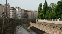 Typical view - Vienna outside of the city center Stock Footage