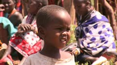Flies in the face of the child masai 3 Stock Footage