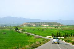 Road in cyprus. Stock Photos