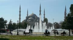 The Sultan Ahmed Mosque, Istanbul Turkey Stock Footage